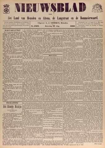 Nieuwsblad het land van Heusden en Altena de Langstraat en de Bommelerwaard 1909-08-21