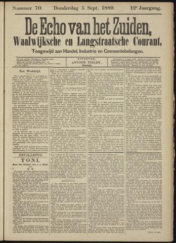 Echo van het Zuiden 1889-09-05