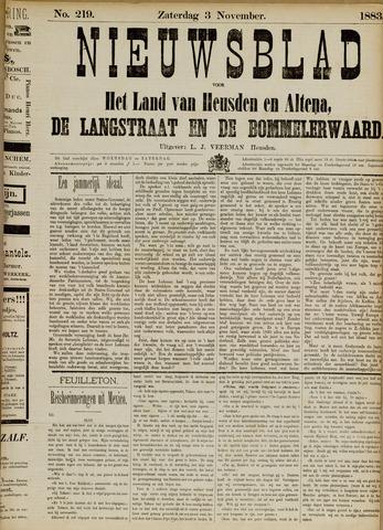 Nieuwsblad het land van Heusden en Altena de Langstraat en de Bommelerwaard 1883-11-03