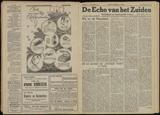 Echo van het Zuiden 1948-12-21