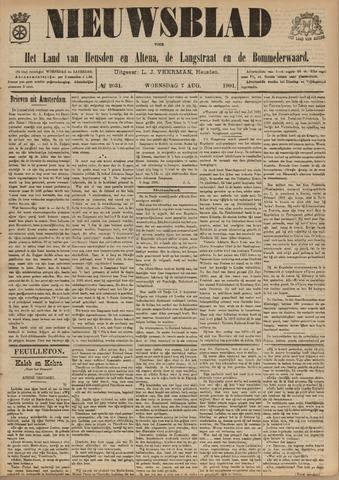Nieuwsblad het land van Heusden en Altena de Langstraat en de Bommelerwaard 1901-08-07