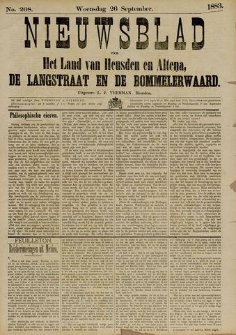 Nieuwsblad het land van Heusden en Altena de Langstraat en de Bommelerwaard 1883-09-26