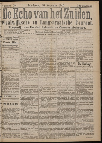 Echo van het Zuiden 1915-08-26