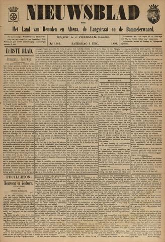 Nieuwsblad het land van Heusden en Altena de Langstraat en de Bommelerwaard 1894-12-01