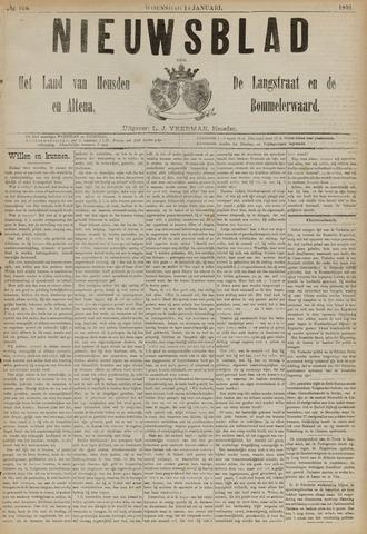 Nieuwsblad het land van Heusden en Altena de Langstraat en de Bommelerwaard 1891-01-14