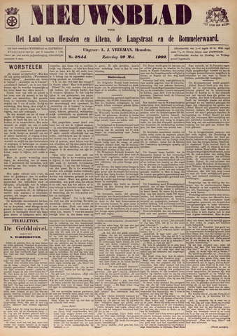 Nieuwsblad het land van Heusden en Altena de Langstraat en de Bommelerwaard 1909-05-29