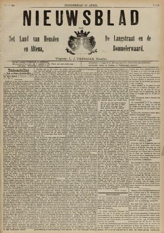Nieuwsblad het land van Heusden en Altena de Langstraat en de Bommelerwaard 1892-04-21