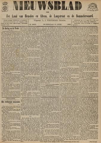 Nieuwsblad het land van Heusden en Altena de Langstraat en de Bommelerwaard 1902-06-11