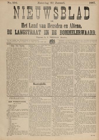 Nieuwsblad het land van Heusden en Altena de Langstraat en de Bommelerwaard 1887-01-22