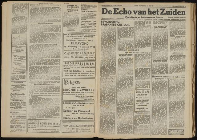 Echo van het Zuiden 1948-01-15
