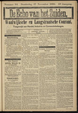 Echo van het Zuiden 1890-11-27
