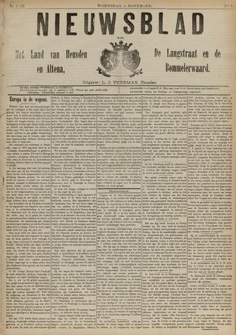 Nieuwsblad het land van Heusden en Altena de Langstraat en de Bommelerwaard 1891-11-04
