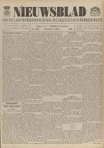 Nieuwsblad het land van Heusden en Altena de Langstraat en de Bommelerwaard 1921-03-02