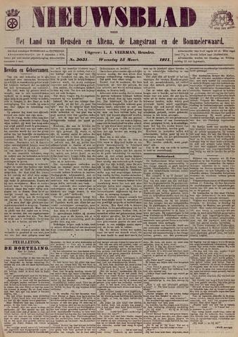 Nieuwsblad het land van Heusden en Altena de Langstraat en de Bommelerwaard 1911-03-15
