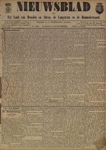 Nieuwsblad het land van Heusden en Altena de Langstraat en de Bommelerwaard 1893-11-15