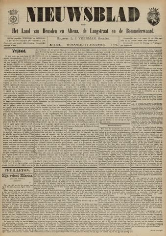 Nieuwsblad het land van Heusden en Altena de Langstraat en de Bommelerwaard 1892-08-17