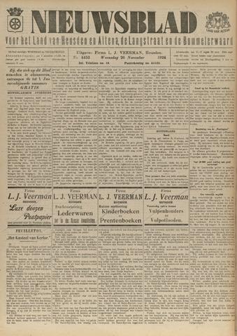 Nieuwsblad het land van Heusden en Altena de Langstraat en de Bommelerwaard 1924-11-26