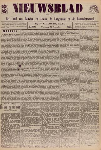 Nieuwsblad het land van Heusden en Altena de Langstraat en de Bommelerwaard 1910-09-14