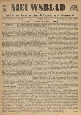 Nieuwsblad het land van Heusden en Altena de Langstraat en de Bommelerwaard 1905-12-20