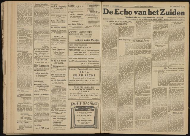Echo van het Zuiden 1947-11-18