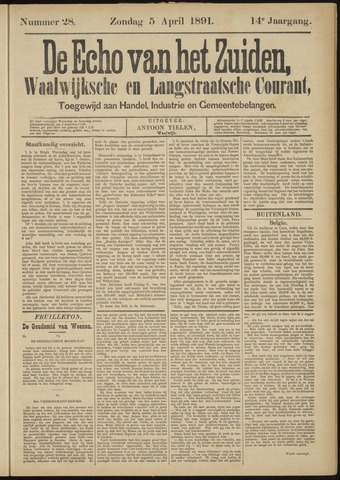 Echo van het Zuiden 1891-04-05