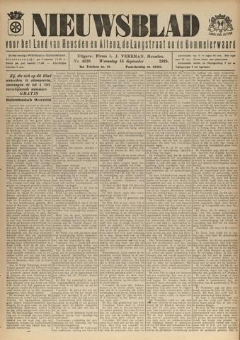 Nieuwsblad het land van Heusden en Altena de Langstraat en de Bommelerwaard 1925-09-16