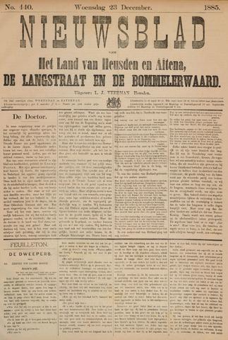 Nieuwsblad het land van Heusden en Altena de Langstraat en de Bommelerwaard 1885-12-23