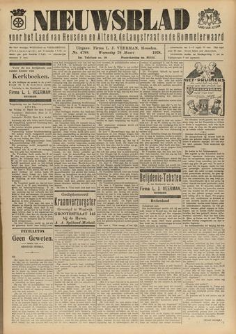 Nieuwsblad het land van Heusden en Altena de Langstraat en de Bommelerwaard 1928-03-28