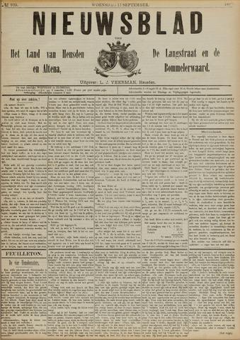 Nieuwsblad het land van Heusden en Altena de Langstraat en de Bommelerwaard 1890-09-17