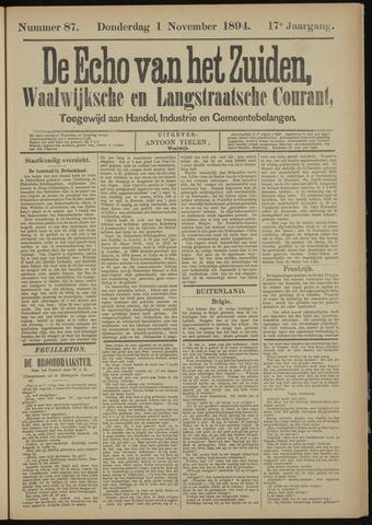 Echo van het Zuiden 1894-11-01