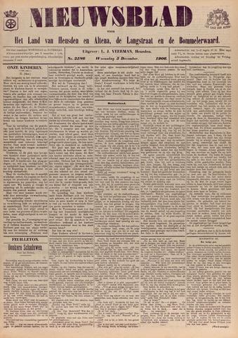 Nieuwsblad het land van Heusden en Altena de Langstraat en de Bommelerwaard 1906-12-05