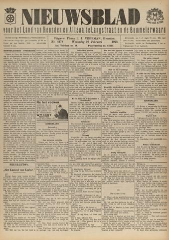 Nieuwsblad het land van Heusden en Altena de Langstraat en de Bommelerwaard 1925-02-25