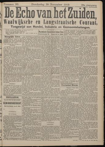 Echo van het Zuiden 1915-11-18
