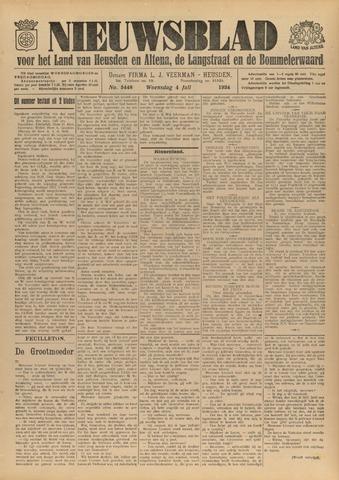 Nieuwsblad het land van Heusden en Altena de Langstraat en de Bommelerwaard 1934-07-04