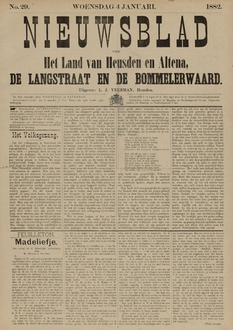 Nieuwsblad het land van Heusden en Altena de Langstraat en de Bommelerwaard 1882-01-04