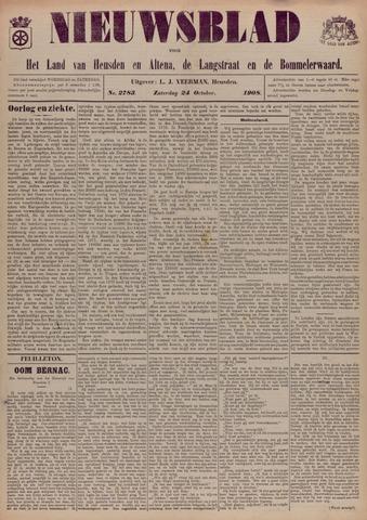 Nieuwsblad het land van Heusden en Altena de Langstraat en de Bommelerwaard 1908-10-24