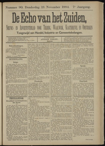Echo van het Zuiden 1884-11-13