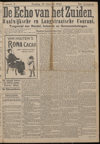 Echo van het Zuiden 1913-01-19