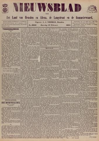 Nieuwsblad het land van Heusden en Altena de Langstraat en de Bommelerwaard 1911-02-11