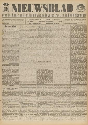 Nieuwsblad het land van Heusden en Altena de Langstraat en de Bommelerwaard 1925-01-21