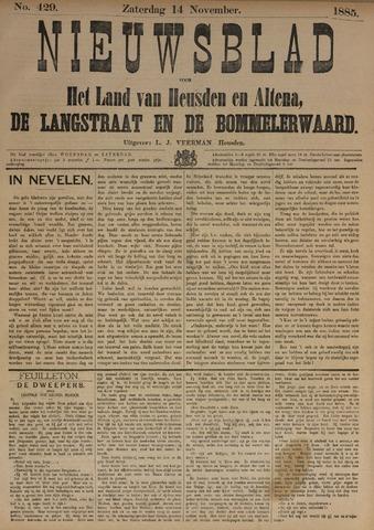 Nieuwsblad het land van Heusden en Altena de Langstraat en de Bommelerwaard 1885-11-14