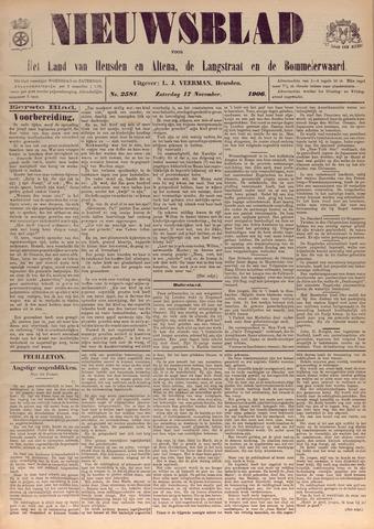 Nieuwsblad het land van Heusden en Altena de Langstraat en de Bommelerwaard 1906-11-17