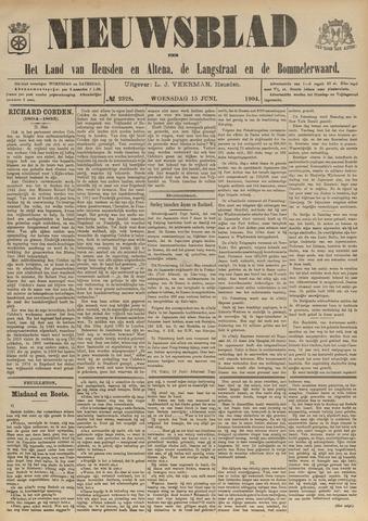 Nieuwsblad het land van Heusden en Altena de Langstraat en de Bommelerwaard 1904-06-15