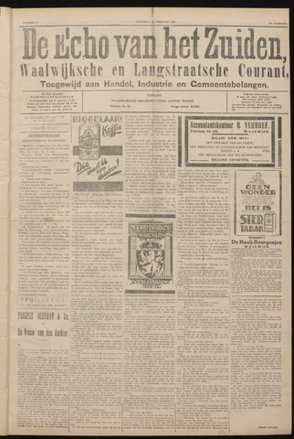 Echo van het Zuiden 1927-02-12