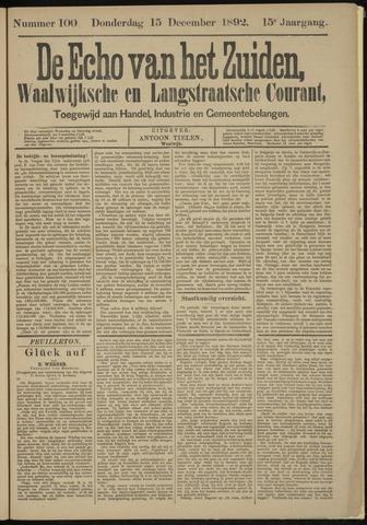 Echo van het Zuiden 1892-12-15