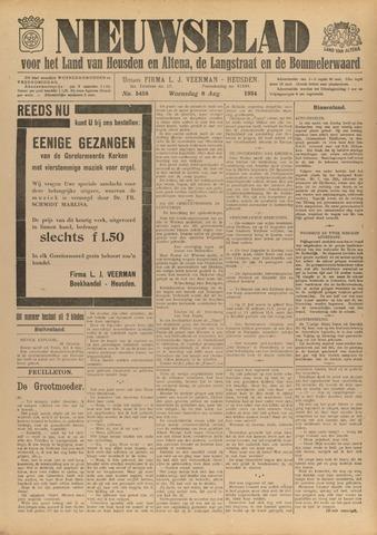Nieuwsblad het land van Heusden en Altena de Langstraat en de Bommelerwaard 1934-08-08