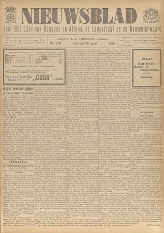 Nieuwsblad het land van Heusden en Altena de Langstraat en de Bommelerwaard 1918-04-13
