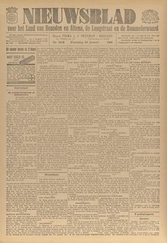 Nieuwsblad het land van Heusden en Altena de Langstraat en de Bommelerwaard 1934-01-24