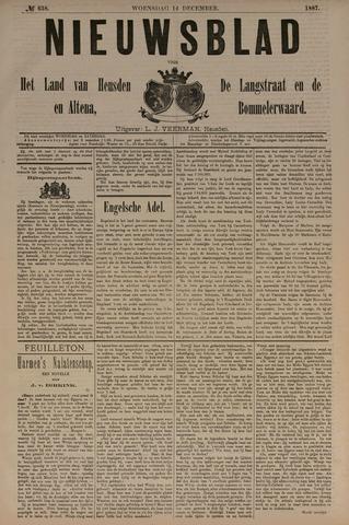 Nieuwsblad het land van Heusden en Altena de Langstraat en de Bommelerwaard 1887-12-14