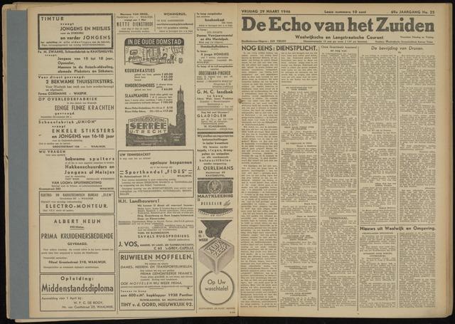 Echo van het Zuiden 1946-03-29